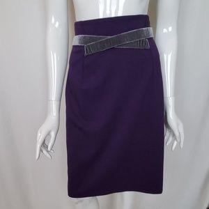 Girls From Savoy Purple Skirt Grey Velvet Trim
